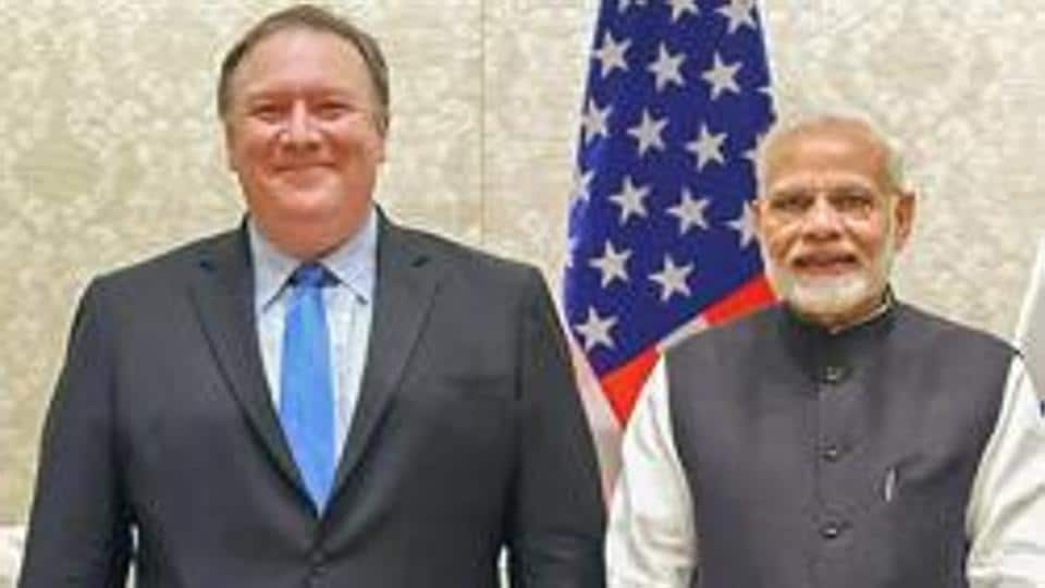 Prime Minister Narendra Modi meets the US Secretary of State, Michael R. Pompeo and the US Secretary of Defence, James Mattis, in New Delhi, Thursday, September 06, 2018.