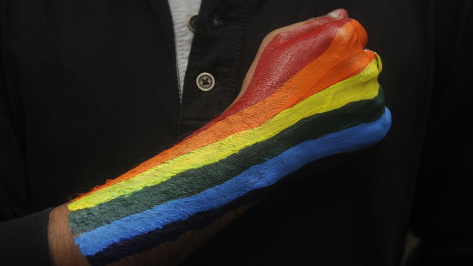 A participant in the 2017 Kolkata Rainbow Pride Walk, held from Deshapriya Park to Park Circus on December 10, 2017. India saw its first pride march on July 02 1999, in Kolkata, West Bengal. A small affair, the event saw participants from other cities including Mumbai and Bangalore. Kolkata was chosen as the venue keeping in mind its history of association with political and human rights movements. (Samir Jana / HT Archive)