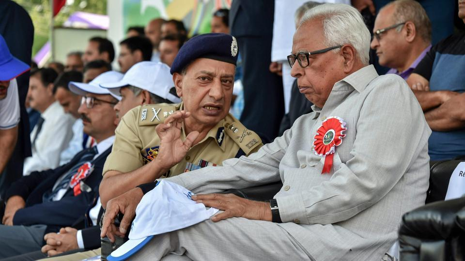 A file picture of former Jammu and Kashmir Governor NN Vohra and former DGP SP Vaid