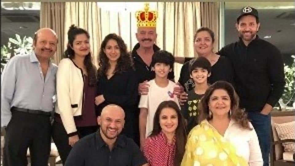 Hrithik Roshan shared pictures from his dad Rakesh Roshan's birthday as Instagram stories.
