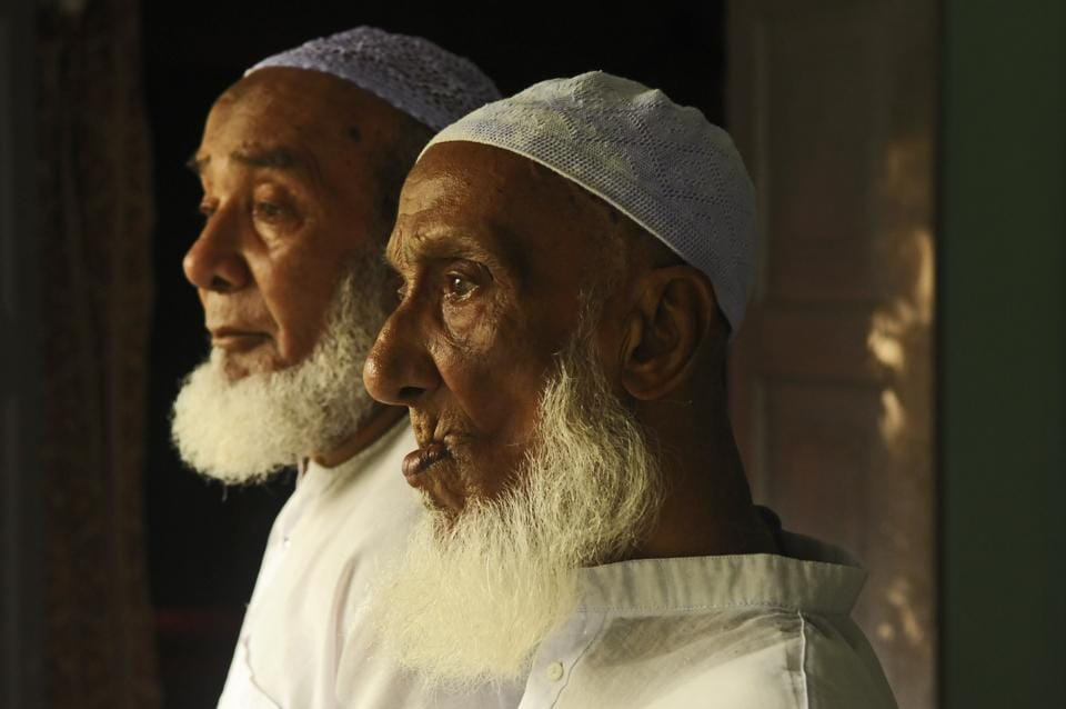 Brothers and retired teachers of Rongpur-1 (near Silchar) Moinuddin Mozumder and Alauddin Mozumder's names are missing from the National Register of Citizens (NRC)'s final draft.