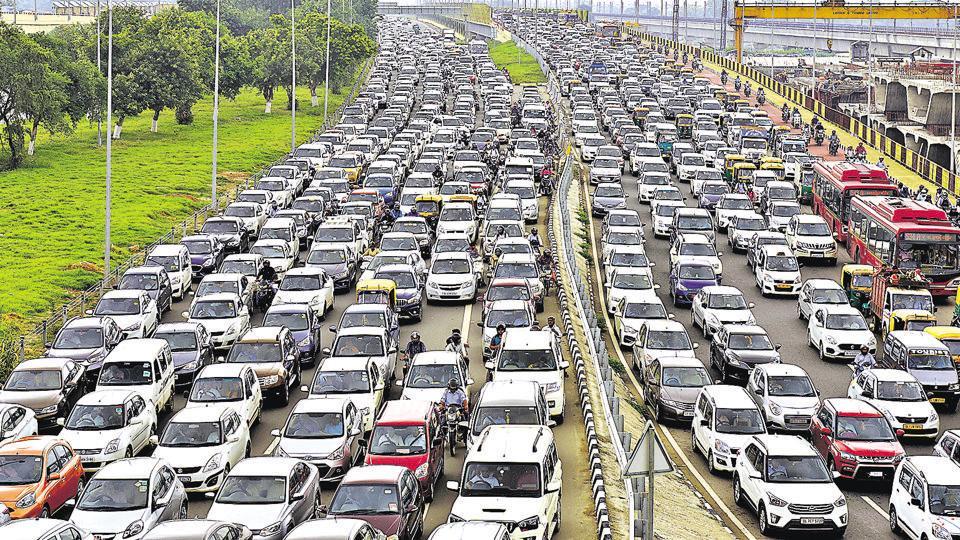 Parking lots,Traffic,New Delhi