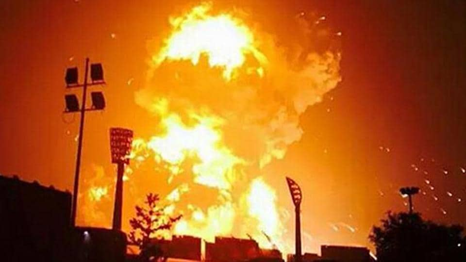 Four people were killed and an equal number injured in explosions at two fireworks manufacturing units in Tamil Nadu's Virudhunagar and Salem districts Saturday