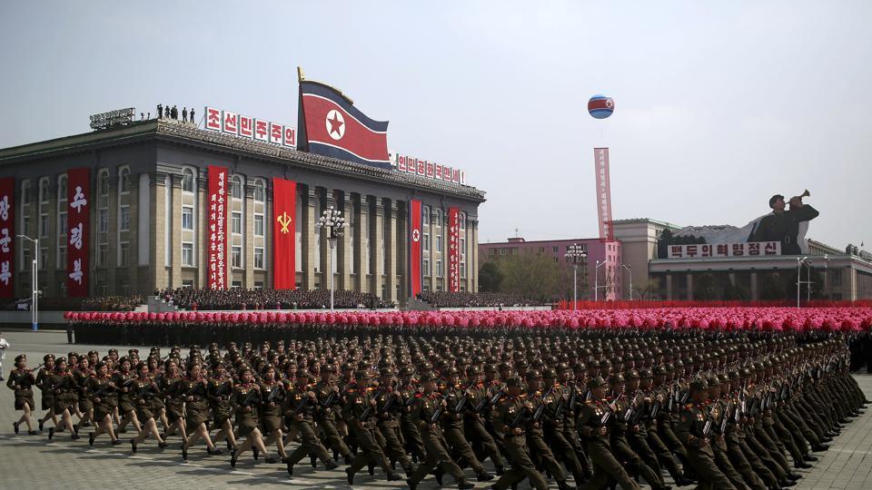 North Korea,North Korean military parade,KIM II SUNG