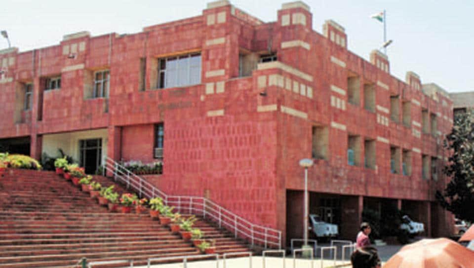 The administrative block of the Jawaharlal Nehru University. (Ronjoy Gogoi/HT Photo)