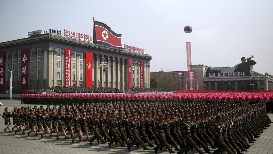 N Korea parade,N Korea,advanced missiles