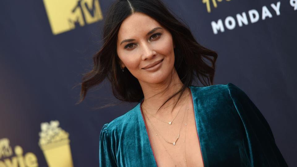 Olivia Munn attends the 2018 MTV Movie & TV awards, at the Barker Hangar in Santa Monica on June 16, 2018.