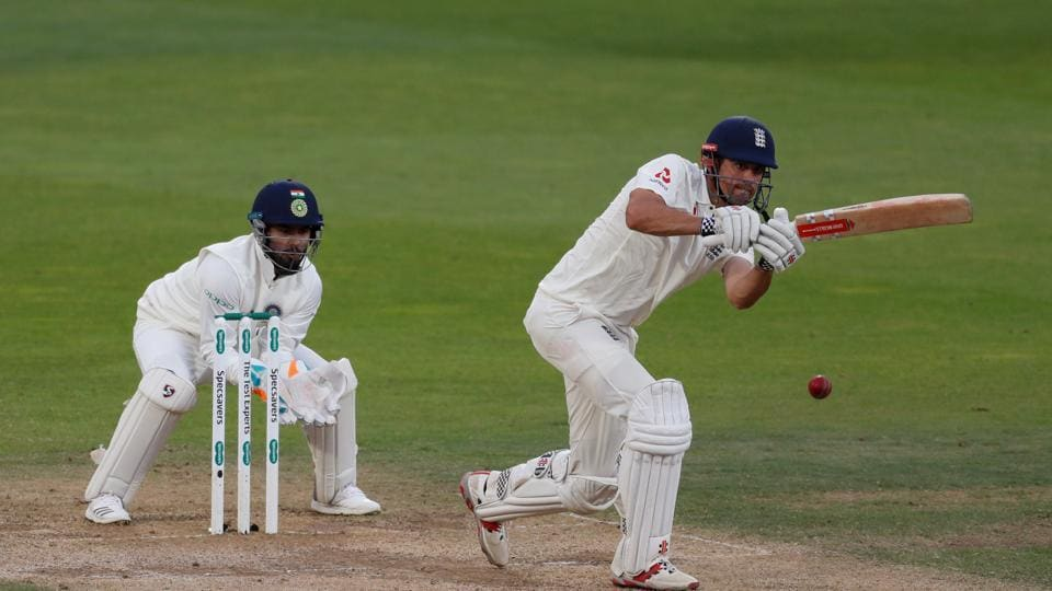 England's Alastair Cook in action. (REUTERS)