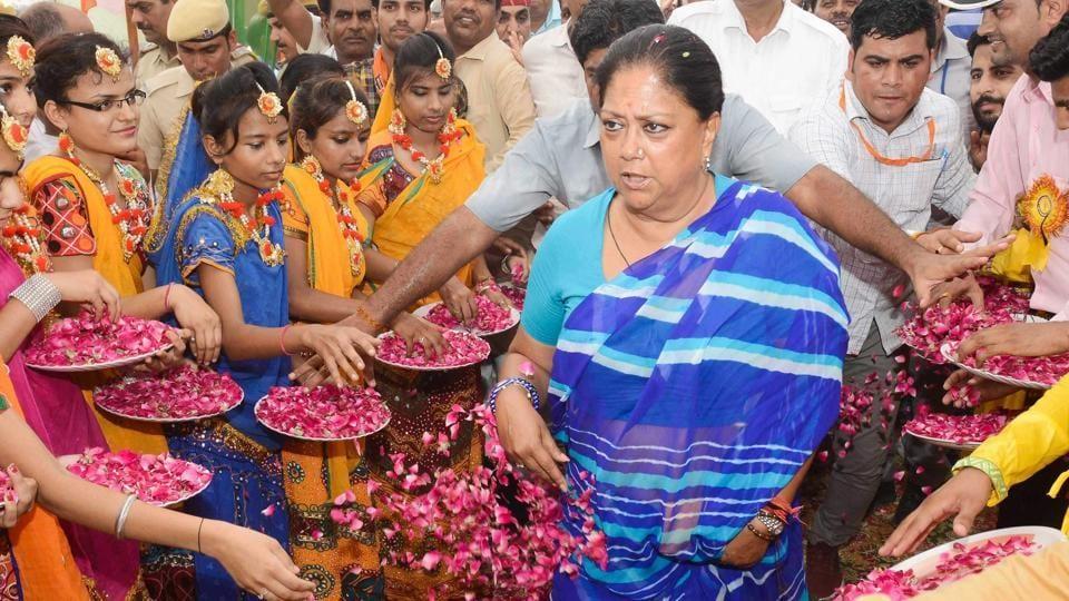 rajasthan,gaurav yatra,vasundhara raje