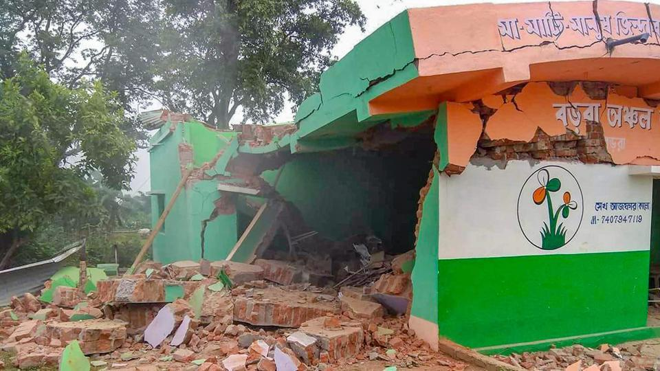 TMC explosion,West Bengal,TMC office