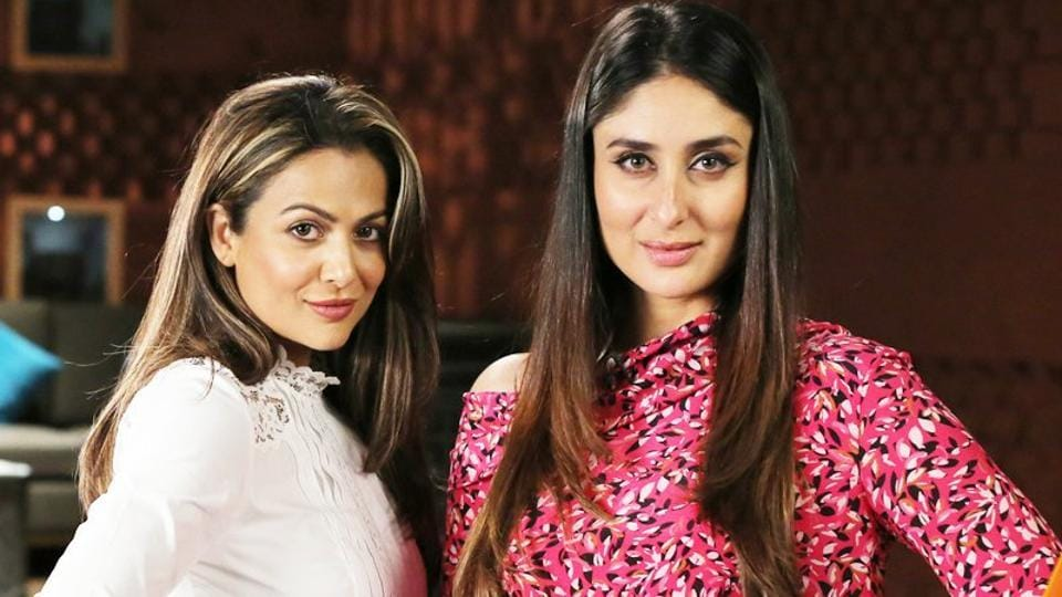 Kareena Kapoor and Amrita Arora appeared  on a talk show together.