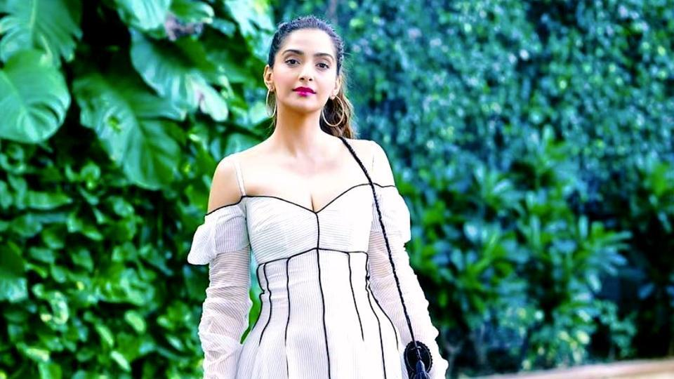 39b75fc496cd Sonam Kapoor Ahuja s white dress exudes elegance and utter sophistication