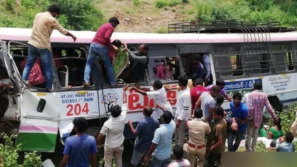 Telangana bus accident UPDATES: Most deaths due to suffocation, say police | india news  c5941c18 b59f 11e8 ab60 f008577e130d