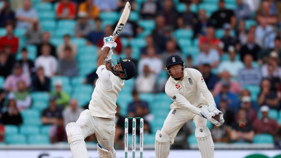 India's Rishabh Pant in action against England on Day 5. (REUTERS)