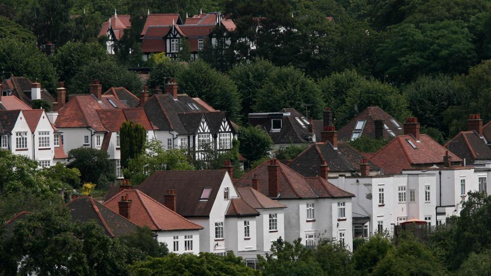 Homes are seen on Highgate Hill in London, UK, Thursday, July 19, 2007.