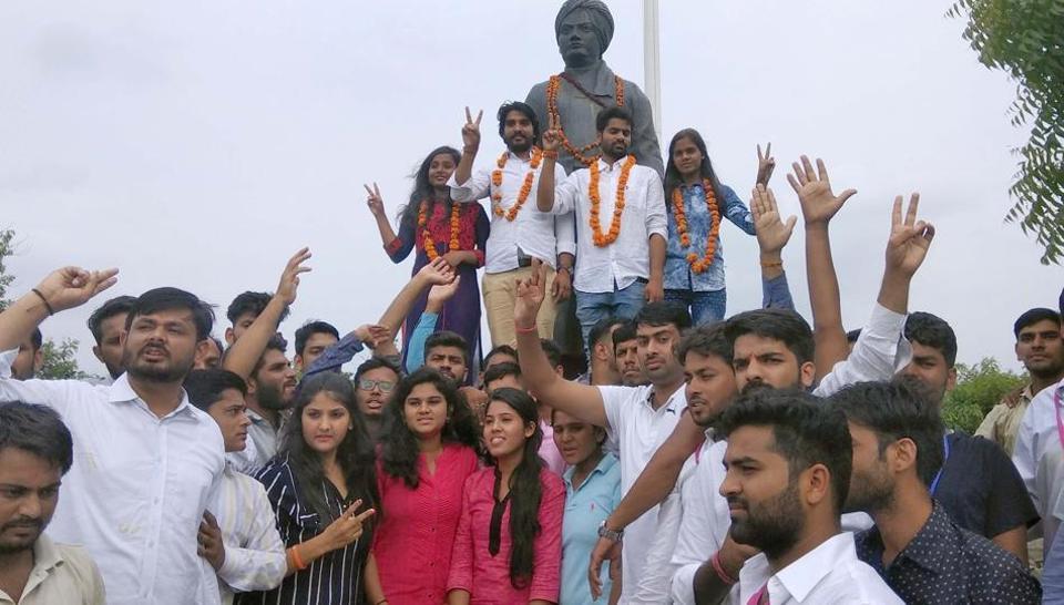 Rajasthan students' union polls,ABVP,ABVP wins