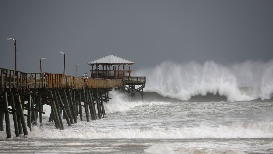 Hurricane Florence,Florence hits east coast,North Carolina