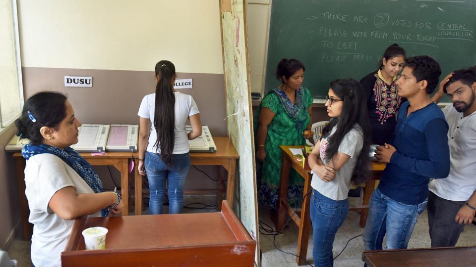 NSUI,ABVP,delhi university election results live
