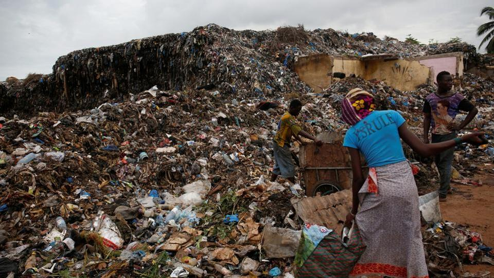People search through trash at a dump in Bamako. Mali is one of the poorest countries in the world and the authorities struggle to provide adequate public services in the capital. (Luc Gnago / REUTERS)