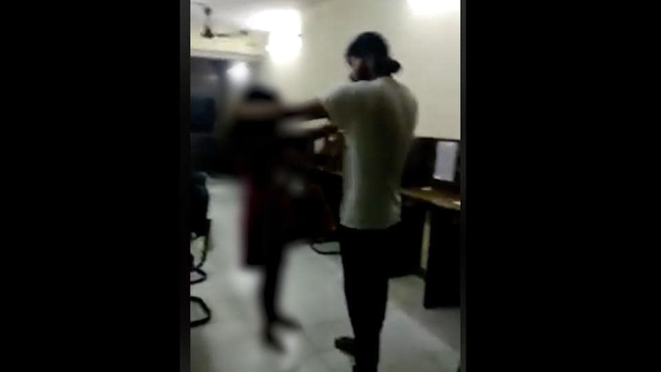 The Delhi youth allegedly seen slapping and kicking a woman after knocking her to the ground in a video that has gone viral on social media.