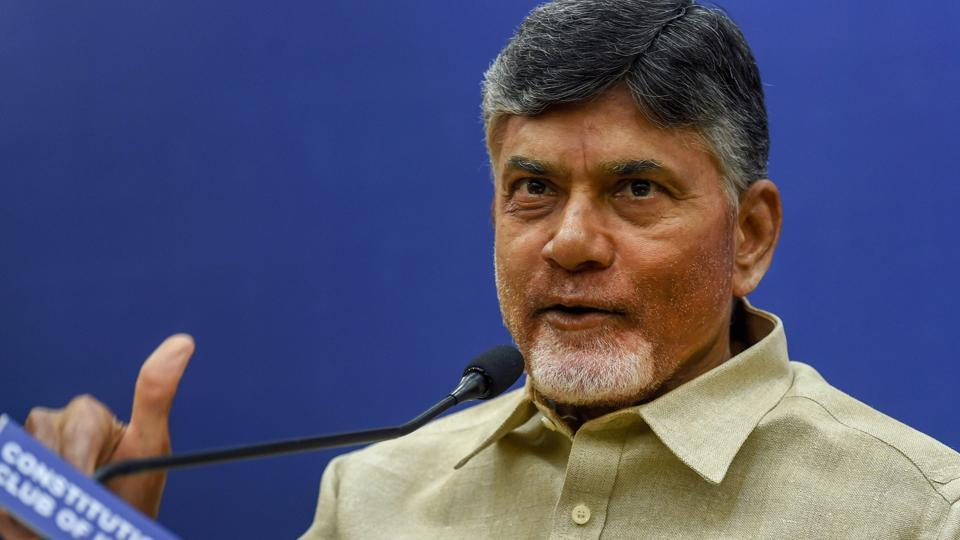 Andhra Pradesh Chief Minister N Chandrababu Naidu addressing a press conference in New Delhi, July 21, 2018. An arrest warrant has been issued against him and 15 others in connection with a 2010 case.