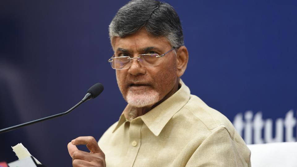 Protests have erupted across Andhra Pradesh after an arrest warrant was issued against chief minister Chandrababu Naidu and others in connection with a case dating back to July 2010. Telugu Desam Party (TDP) alleges a conspiracy to target Naidu after he exited the NDA government. (Raj K Raj / HT Archive)