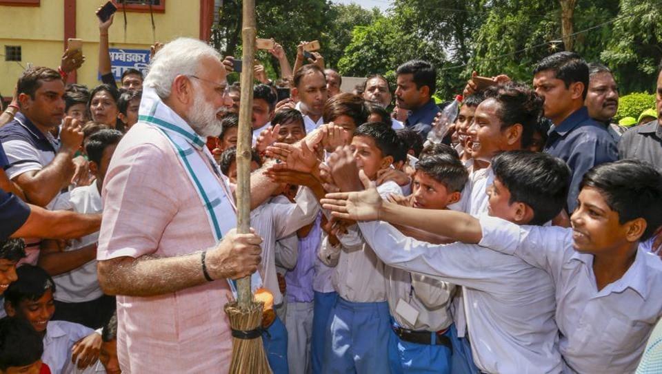 PM Modi,Swachhata Hi Seva,Gandhi