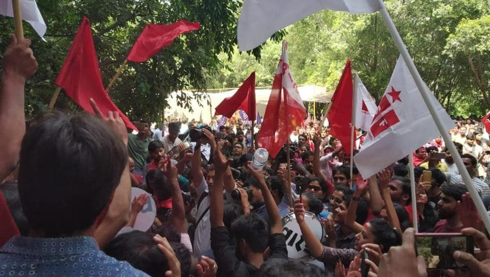 JNUSU election 2018,JNU election,JNU