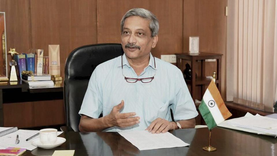 Goa chief minister Manohar Parikkar at his office in Panaji.