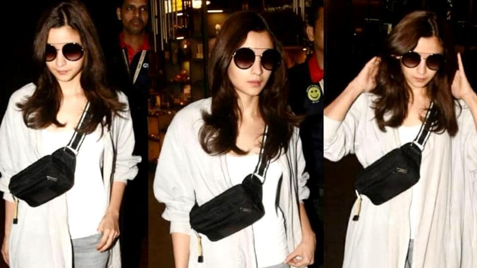 Alia Bhatt touched down at Mumbai airport without boyfriend Ranbir Kapoor, just hours after the couple was spotted together in Bulgaria. (Instagram)
