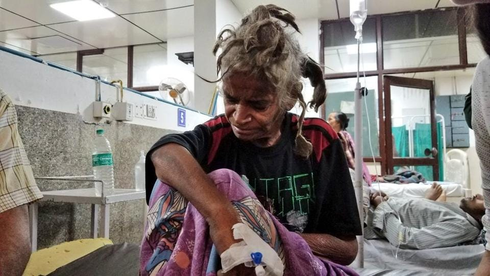 A 50-year-old woman was rescued from a house in Rohini where her brother had held her captive for the past two years.