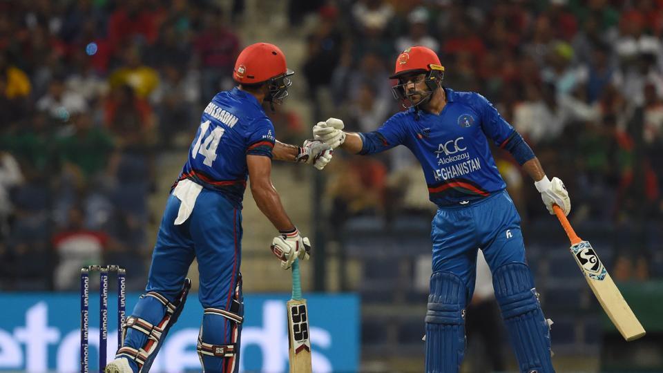 Rashid Khan played 57* runs off 32 balls knock on his 20th birthday against Bangladesh (photo - getty)