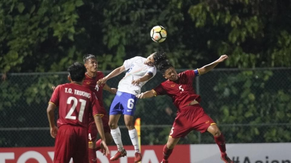 Afc U  Championship Vikrams Late Goal Hands India Win Over Vietnam