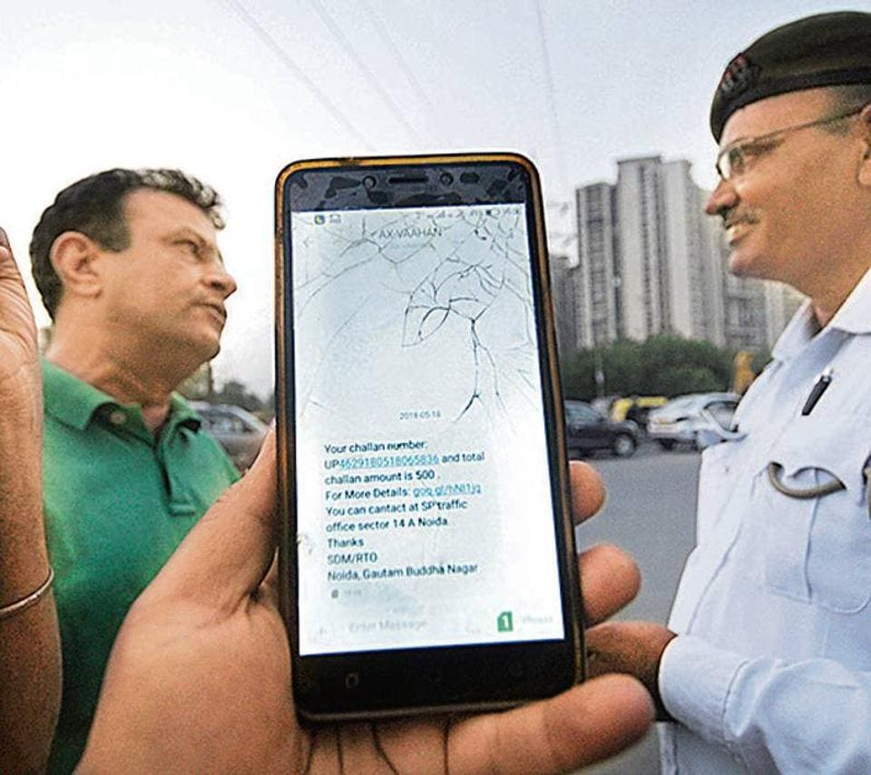 Since the e-challan system started, Noida has recorded 1.17 lakh e-challlans. Kanpur ranks second with 12,598 e-challans, which is just about 10% of that recorded in Noida.
