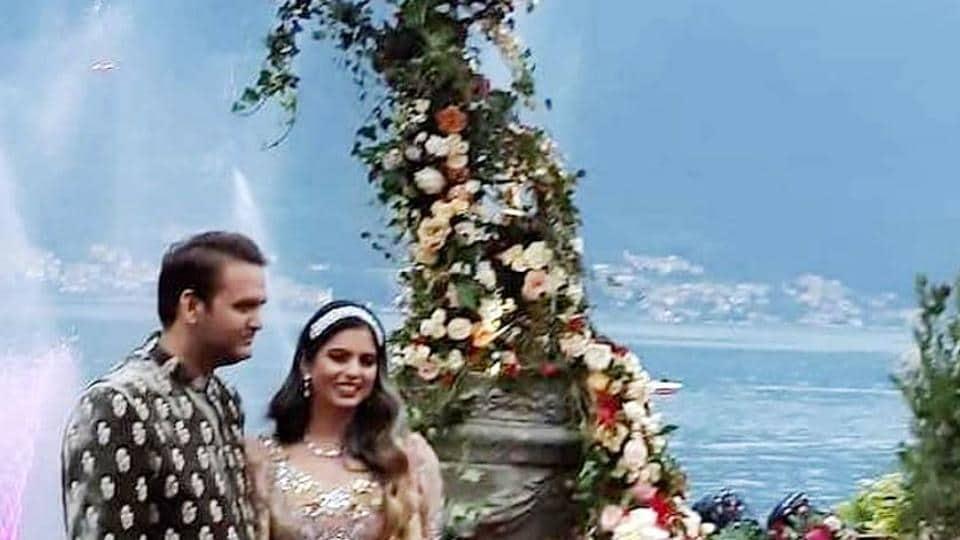 Isha Ambani andAnand Piramal's engagement celebrations took place at Lake Como, Italy.