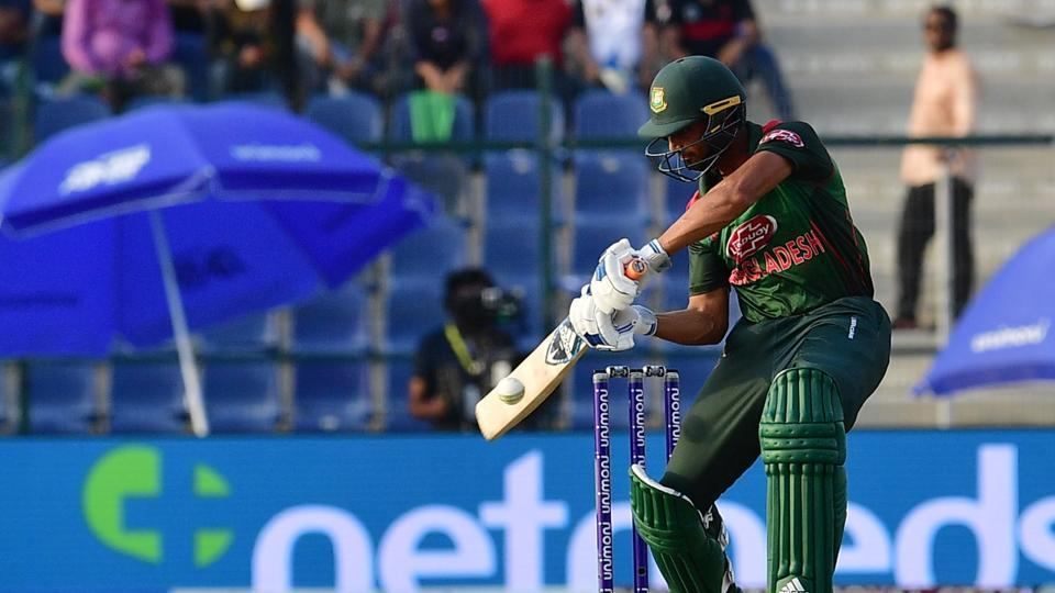 Bangladesh batsman Imrul Kayes plays a shot during the one day international (ODI) Asia Cup cricket match between Afghanistan and Bangladesh at The Sheikh Zayed Stadium in Abu Dhabi on September 23, 2018. (Photo by GIUSEPPE CACACE / AFP) (AFP)