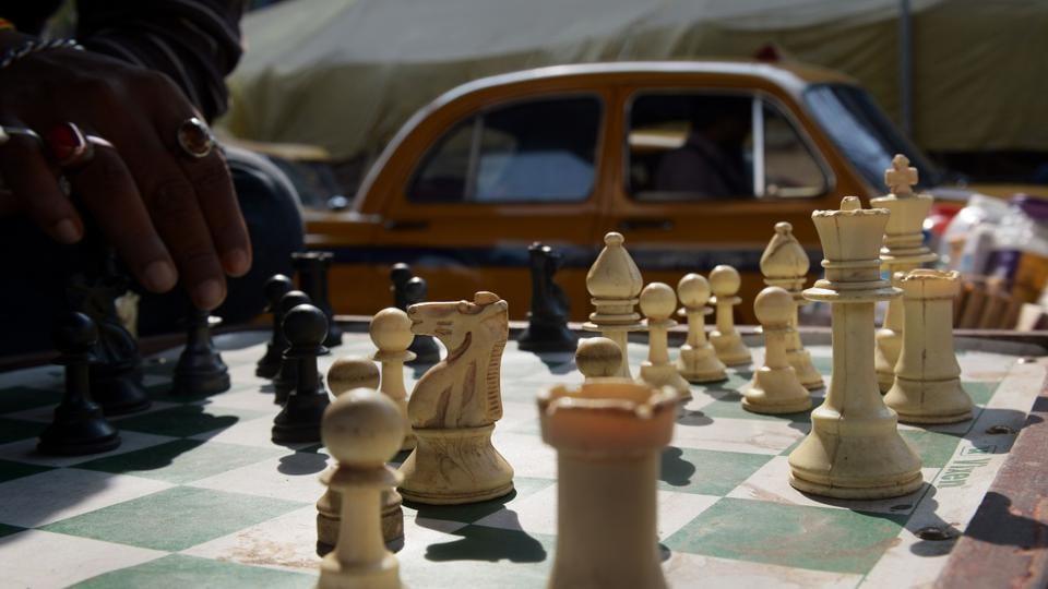 Representative photograph of a chess board