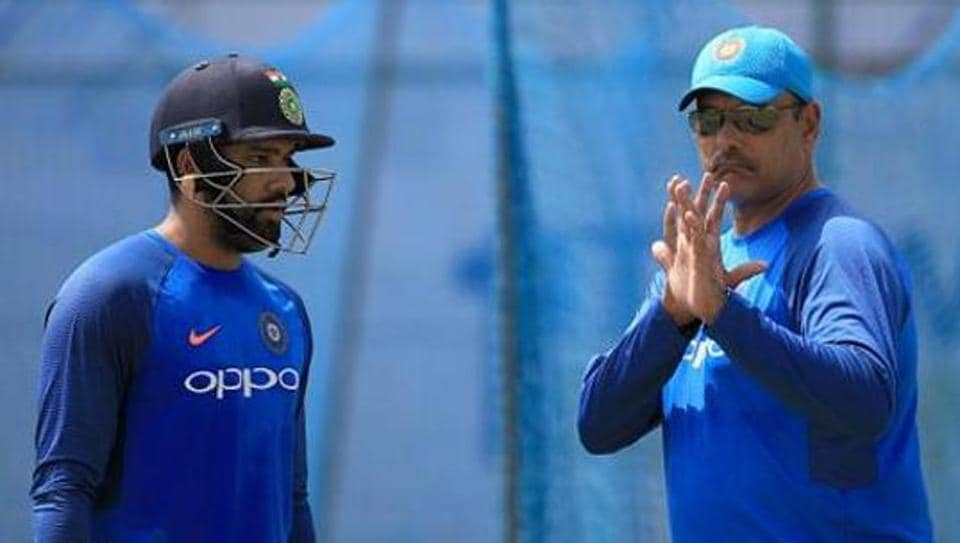 File image of Rohit Sharma and Ravi Shastri.