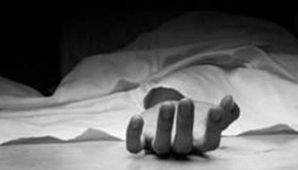Sunil Sharma, 26, hit his head with the same cylinder after killing his 24-year-old wife before informing the police about the crime.