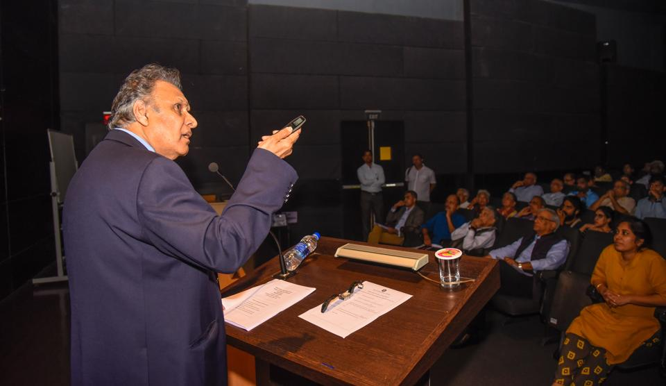 Sukhdeo Thorat speaks about Dalits in India at Sumant Moolgaokar hall, MCCIA, SB road organised by PIC in Pune, India, on Wednesday, September 26, 2018.