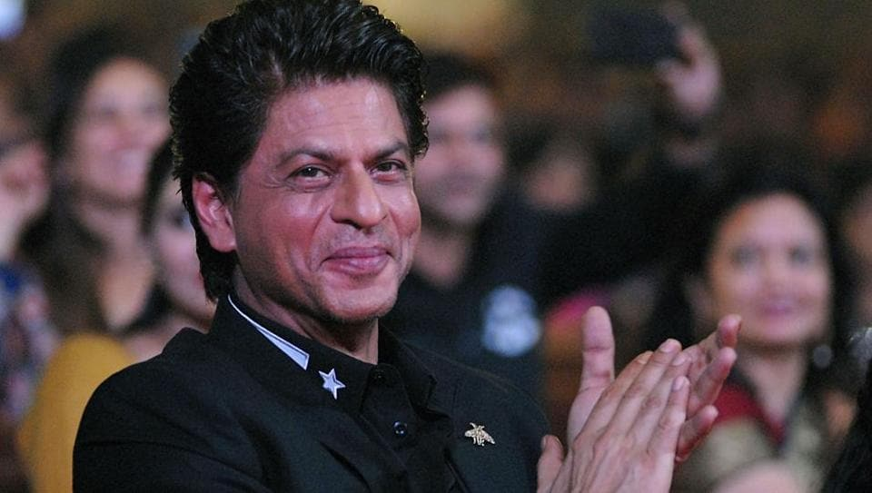 Indian Bollywood actor Shah Rukh Khan looks on during the 'Umang Mumbai Police Show 2018' in Mumbai on late January 13, 2018.