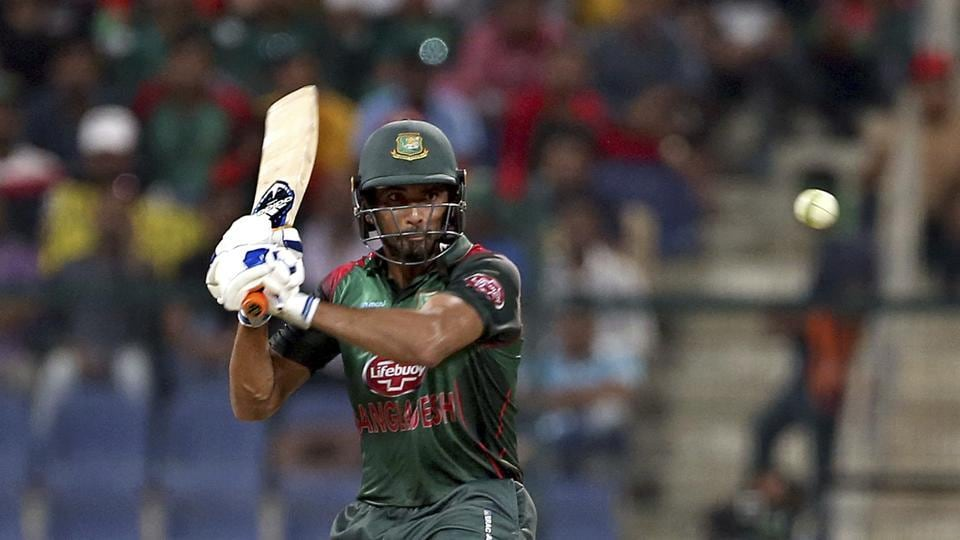 Bangladesh's Mahmudullah bats during the one day international cricket match of Asia Cup between Pakistan and Bangladesh. (AP)