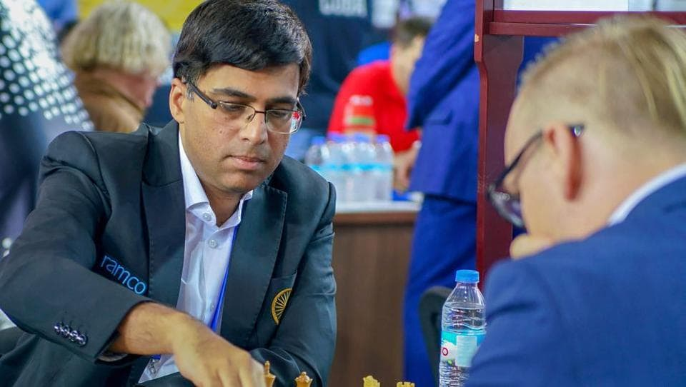 Five-time world champion Viswanathan Anand lost his match to world number two Fabiano Caruana of USA.
