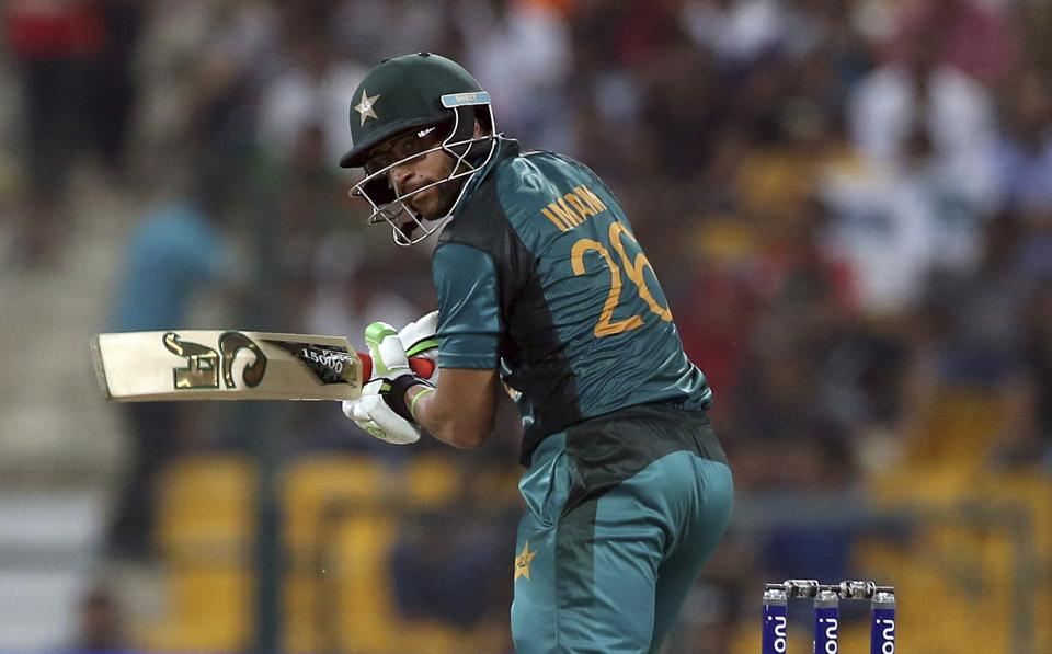 Pakistan's Imam-ul-Haq bats during the one day international cricket match of Asia Cup between Pakistan and Bangladesh. (AP)