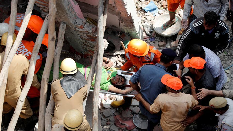 Image result for delhi building collapse
