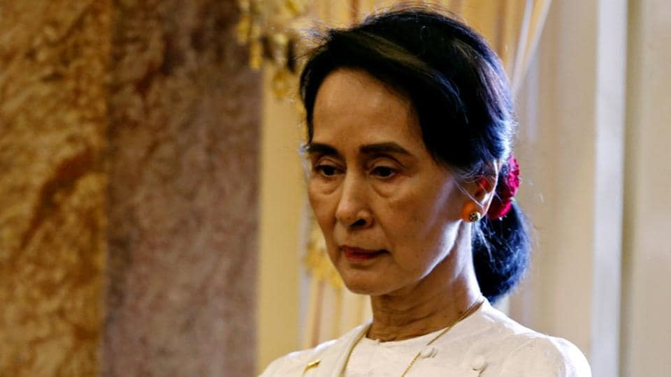 Myanmar's State Counsellor Aung San Suu Kyi during the World Economic Forum on ASEAN in Hanoi, Vietnam on September 13.