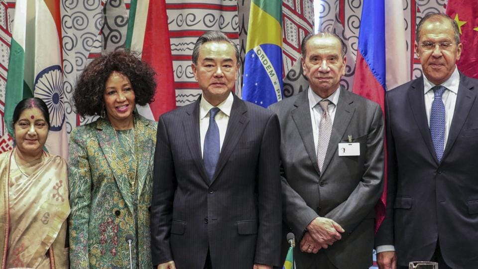 sushma swaraj,BRICS foreign ministers meeting,UNGA