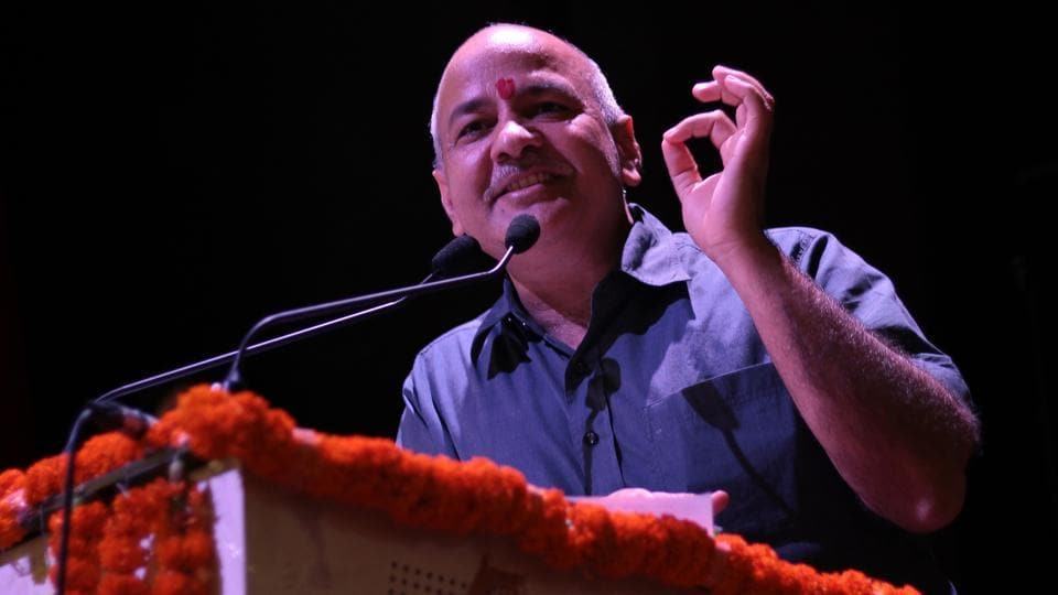 Delhi deputy chief minister and education minister Manish Sisodia.