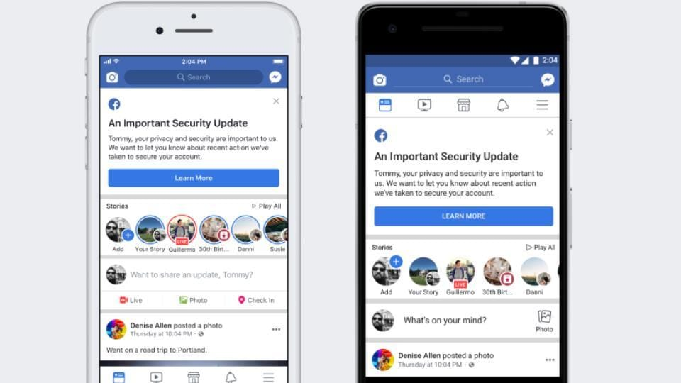 Facebook's security breach compromised over 50 million user accounts.