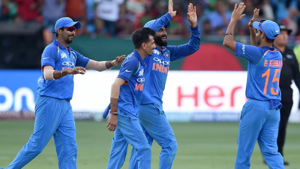 India won their seventh Asia Cup title, beating Bangladesh by three wickets. (AFP)